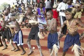 Kenya - Bukusu circumcision dance (AP)