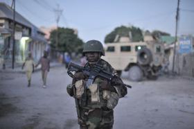 Somalia - AU soldier in Mogadishu (AFP)