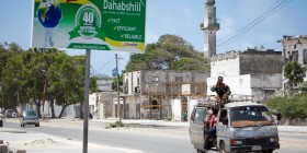 Somalia - Dahabshiil sign in Somalia (Independent)
